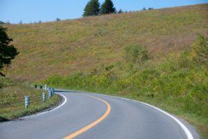 高原の道路