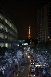 クリスマスの東京六本木のイルミネーション
