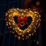 クリスマスのイルミネーションハート