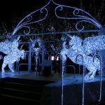 クリスマスの2匹の馬イルミネーション