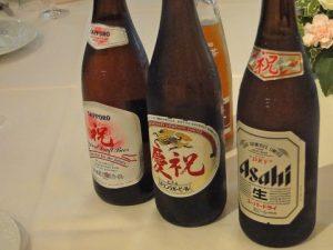結婚式のビール