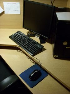 ネットカフェのパソコン