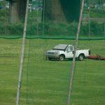 ゴルフボール回収車