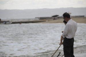 おじいちゃんと海